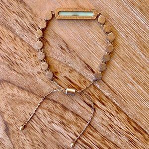 Blue green Stone Adjustable Bracelet